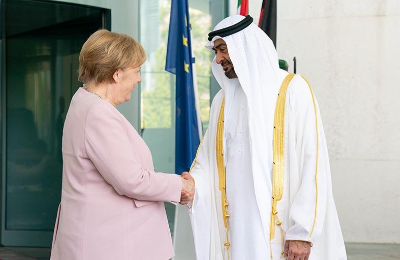محمد بن زايد:العلاقات الإماراتية - الألمانية قوية ومتنوعة ومتنامية وتملك الكثير من فرص التطور والنماء