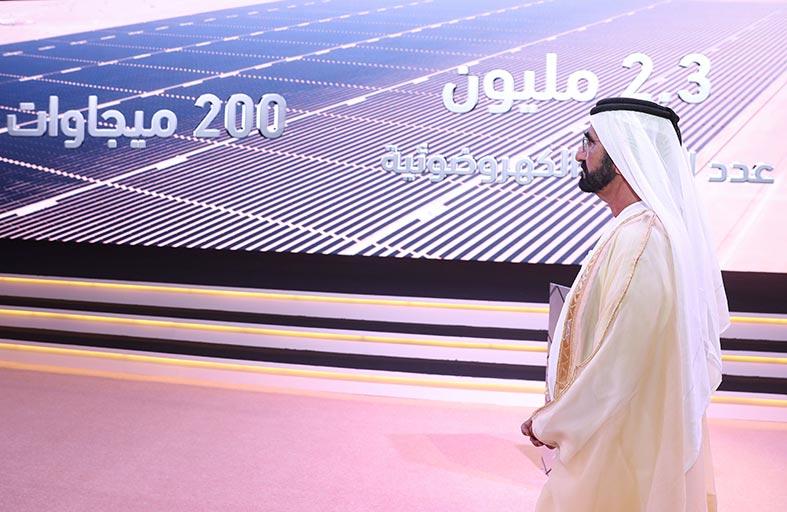 نائب رئيس الدولة يدشن مشروع مجمع محمد بن راشد آل مكتوم للطاقة الشمسية