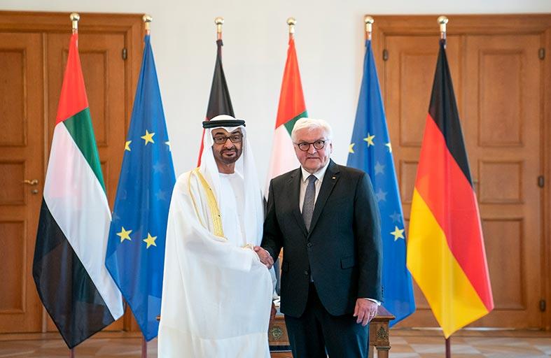 محمد بن زايد:الإمارات وألمانيا الاتحادية شريكتان في العمل من أجل السلام والاستقرار إقليميا وعالميا