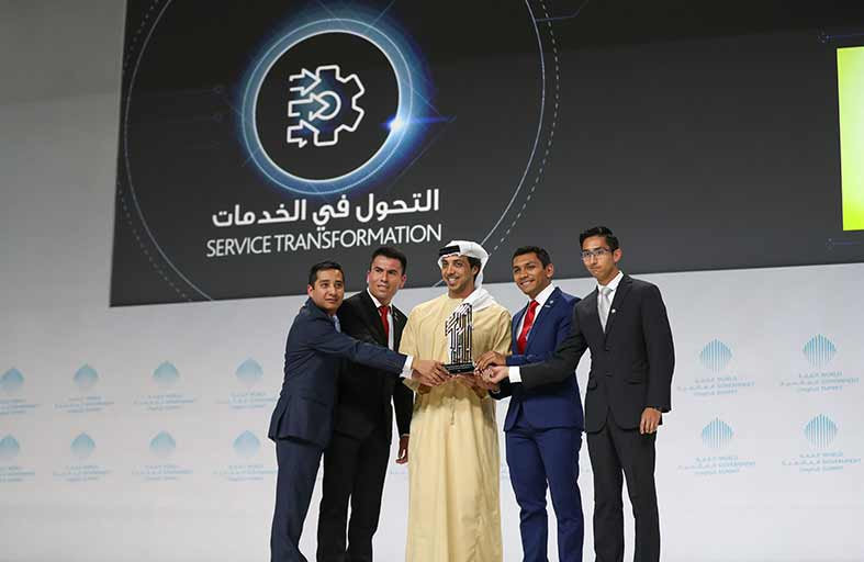 محمد بن راشد يكرم الفائزين بجوائز القمة العالمية للحكومات بمشاركة سيف ومنصور بن زايد