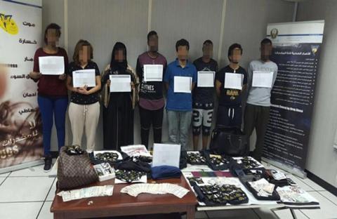 ضبط 8 شباب بحوزتهم 398 كيساً لمخدر «سبايس» بأبوظبي