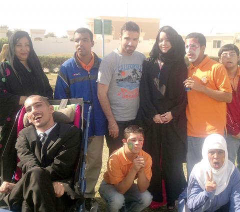ماهر الشيخ وسوسن جمعة في زيارة لمركز العين الخاص للرعاية والتأهيل