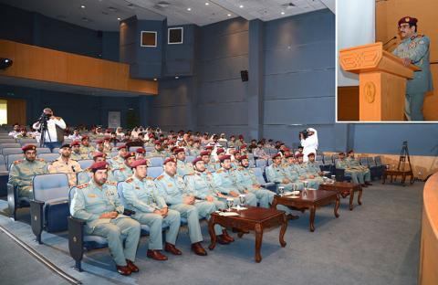 اللواء الهديدي يرعى الملتقى الأول لأفضل الممارسات بمنطقة الشارقة الأمنية