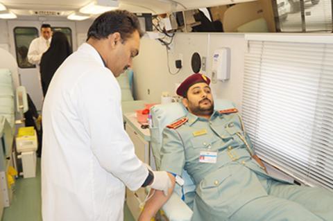 إقامة ام القيوين تنظم حملة للتبرع بالدم