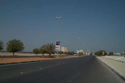 افتتاح دوار الدفاع المدني على طريق جسر رأس الخيمة النخيل