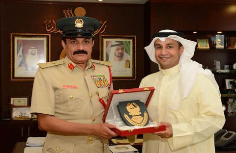 اللواء المزينة يلتقي القنصل الكويتي في دبي