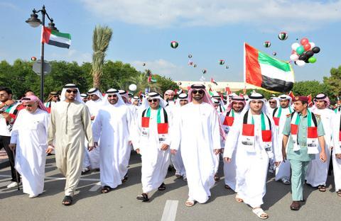 النعيمي يشهد احتفالات جامعة عجمان باليوم الوطني الـ42