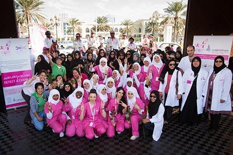 القافلة الوردية تنهي جولتها في الإمارات الشمالية وتفحص أكثر من 3000 شخص خلال 6 أيام