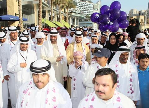 ماجد بن محمد يشهد المهرجان الاحتفالي الكبير لليوم العالمي لمتلازمة داون بدبي