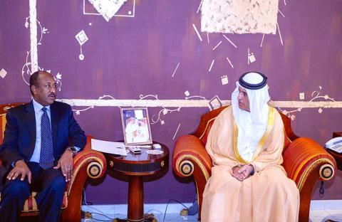 حاكم رأس الخيمة يستقبل سفير السودان