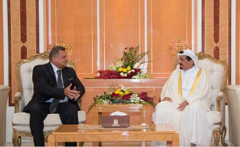 حاكم عجمان يستقبل سفير البوسنة والهرسك