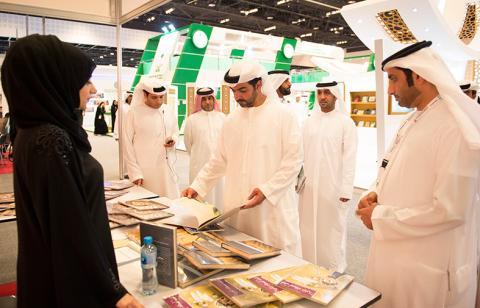 حامد بن زايد يزور معرض أبوظبي الدولي للكتاب
