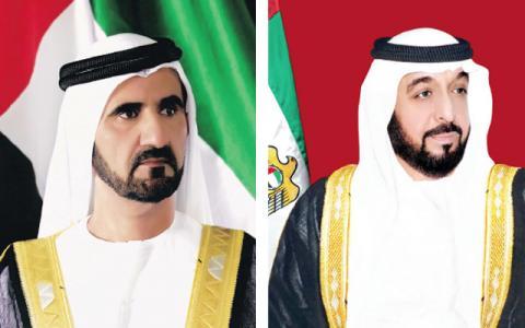 رئيس الدولة ونائبه ومحمد بن زايد يهنئون زارداري بذكرى يوم باكستان