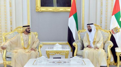رئيس الدولة يستقبل محمد بن راشد ويطلع على نتائج القمة العربية الاقتصادية