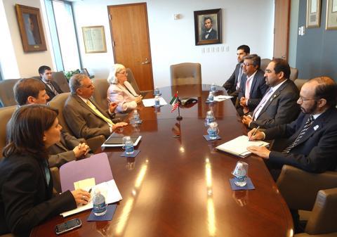 راشد بن فهد يلتقي وزير النقل الأمريكي