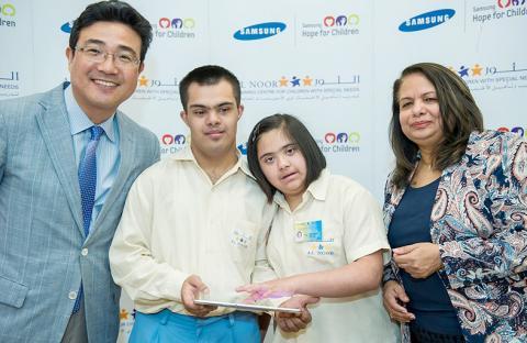 سامسونج تطوّر تطبيقات مبتكرة للطلاب ذوي الاحتياجات الخاصة بالإمارات