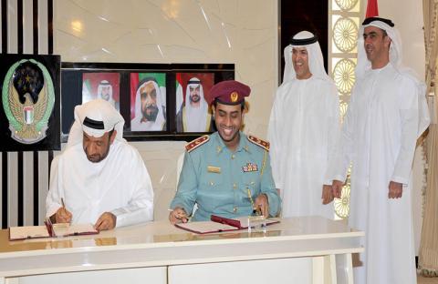 سيف بن زايد يشهد توقيع مذكرة تفاهم بين شرطة أبوظبي و أبوظبي للتعليم