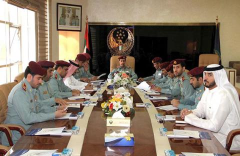 لجنة القيادة العامة لشرطة عجمان تناقش إستراتيجية 2014- 2016