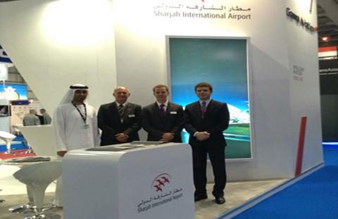مطار الشارقة الدولي يشارك في معرض دبي للطيران