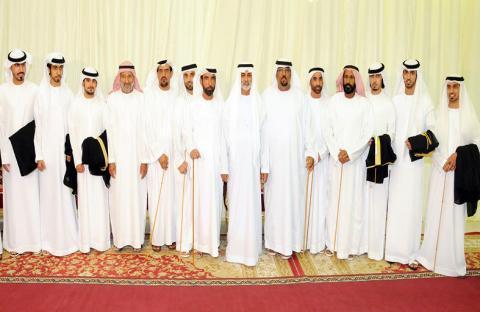 نهيان بن مبارك يحضر العرس الجماعي لقبيلة النعيمي