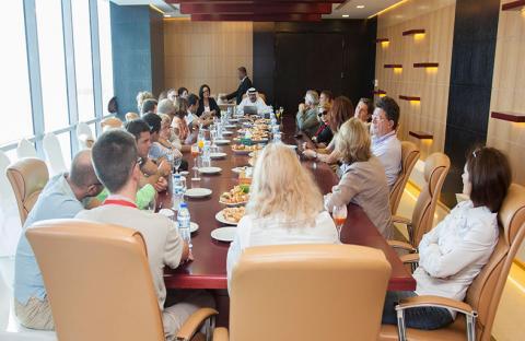 وفد تجاري فرنسي يطلع على  خدمات ومشاريع مدينة دبي الملاحية