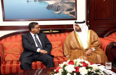 ولي عهد الفجيرة يستقبل سفير السودان وقنصل بنغلاديش
