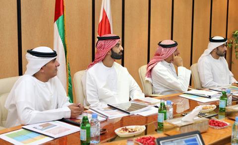 ولي عهد رأس الخيمة يترأس اجتماع المجلس التنفيذي