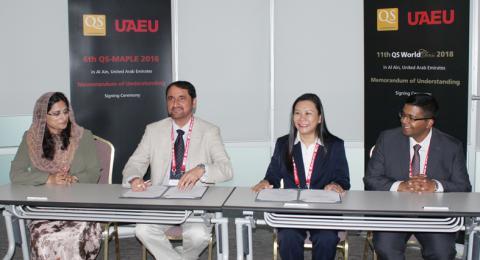 جامعة الإمارات توقع مذكرتي تفاهم لاستضافة منتديين دوليين لتصنيف الجامعات