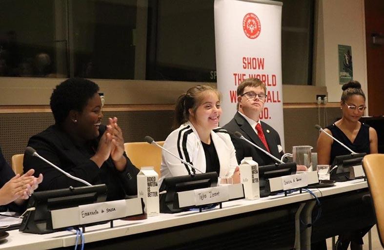 الشيخة القاسمي ممثلا عن الأولمبياد الخاص بالشرق الأوسط بالمؤتمر الثاني عشر للدول الأطراف في اتفاقية حقوق الأشخاص ذوي الإعاقة بالأمم المتحدة