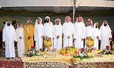 سلطان بن خليفة بن شخبوط يحضر أفراح العامري والعرياني