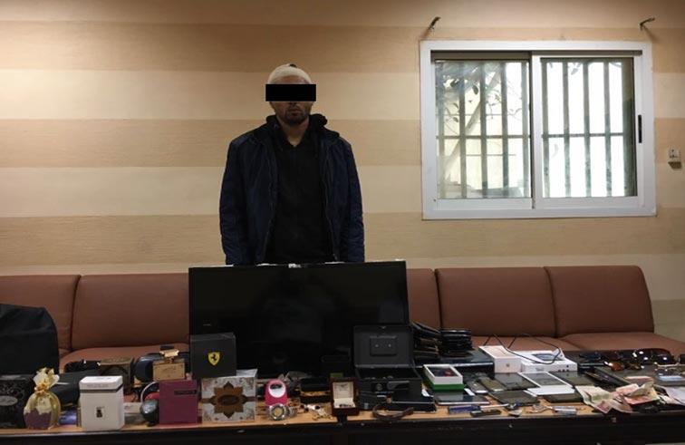 شرطة عجمان تلقي القبض على لص المحلات التجارية بعجمان