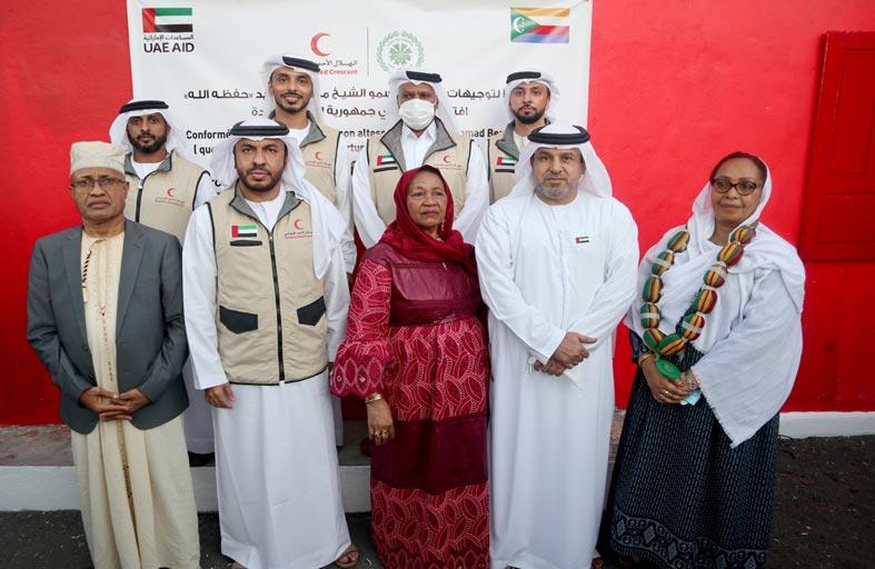 الهلال الإماراتي يفتتح المرحلة الأولى من المشاريع التنموية للمتأثرين من إعصار كينيث في القمر المتحدة