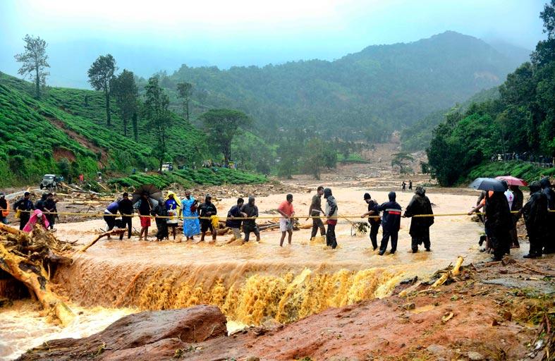 فيضانات وعمليات إخلاء في جنوب الهند