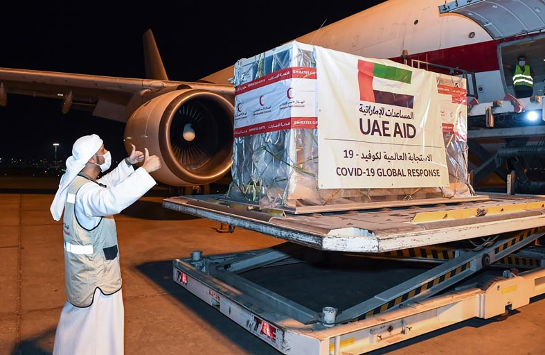 الإمارات ترسل طائرة تحمل مستلزمات طبية إلى موريتانيا