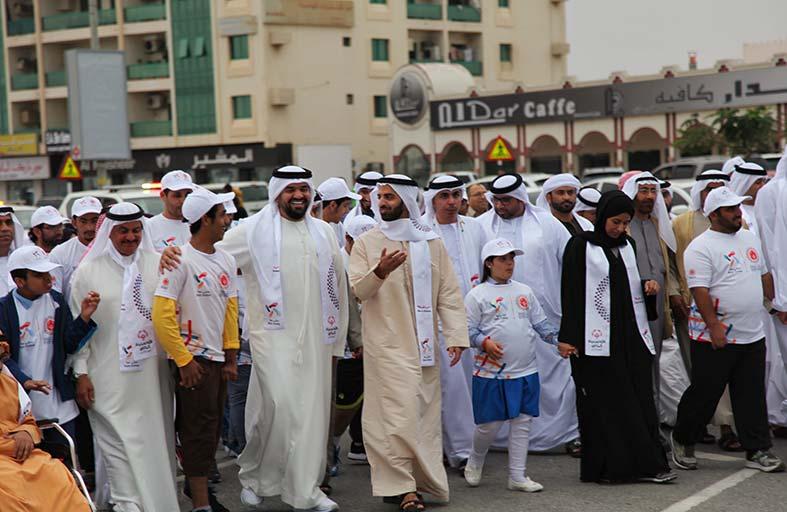 حسين الجسمي يشارك بالمسيرة الإنسانية «نمشي معا» للأولمبياد الخاص في رأس الخيمة