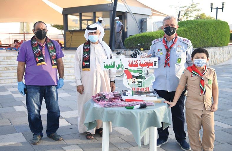 مفوضية كشافة رأس الخيمة تشارك المجتمع احتفالية اليوم الوطني 49