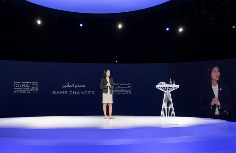 هيلاري يب أصغر رئيسة تنفيذية في العالم تُلهم الحضور بمنتدى المرأة العالمي – دبي 2020