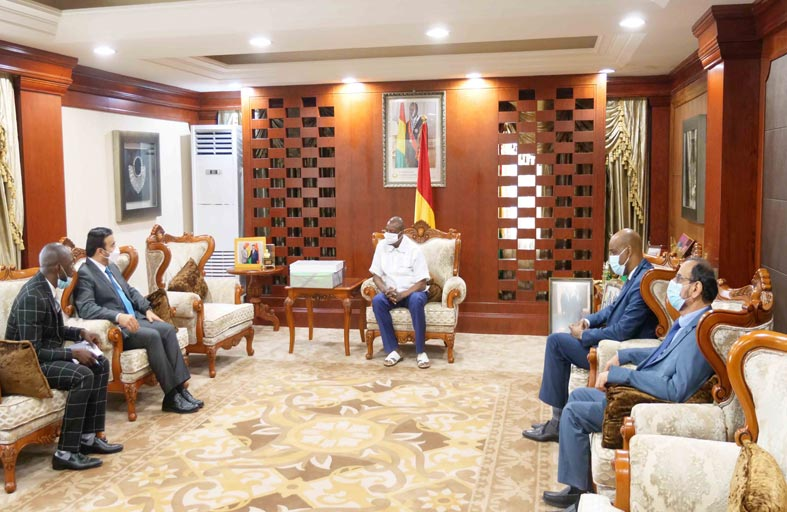 الرئيس الغيني يستقبل مفتش عام وزارة الداخلية