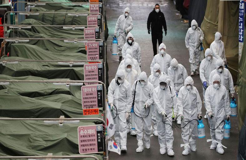 كورونا: نصف الإصابات الكورية مرتبطة بطائفة...!