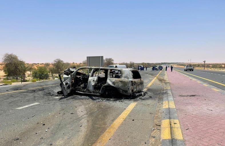وفاة مواطن وامرأة عربية و3 آسيويين بتصادم مركبتين في الظفرة