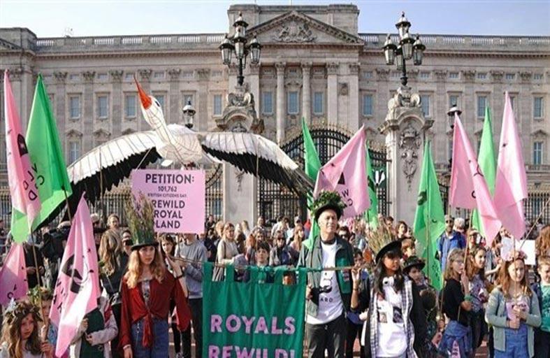 مسيرة للأطفال في لندن نصرة للبيئة