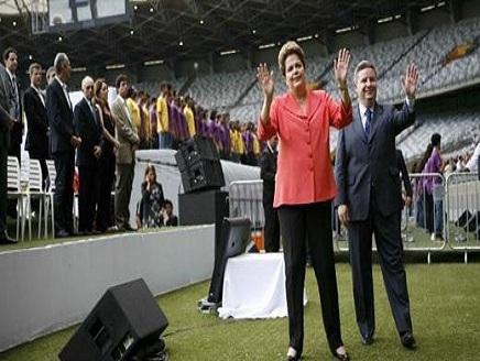 رئيسة البرازيل تفتتح ملعب بيلو هوريزوتي