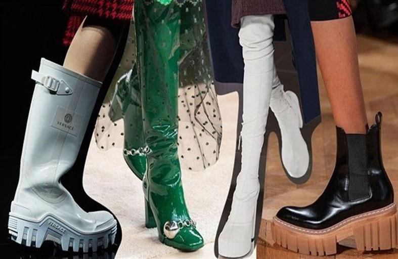 الألوان المبهجة تهيمن على موضة الأحذية