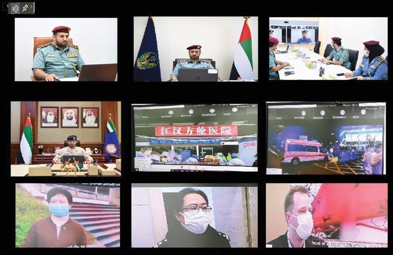 الداخلية ووزارة الأمن العام الصينية يتبادلان التجارب والخبرات في مواجهة كورونا