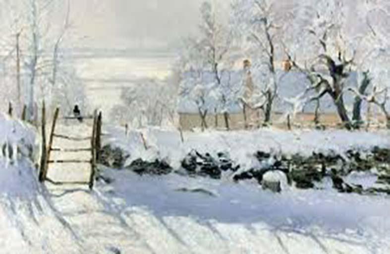 لوحات فنية باستخدام الثلوج