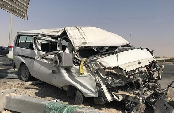 وفاة شخص وإصابة 10 آخرين في حوادث متفرقة وقعت في دبي