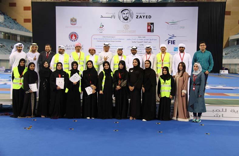 مشاركة إيجابية لسفراء الخير التطوعي في بطولة آسيا للمبارزة