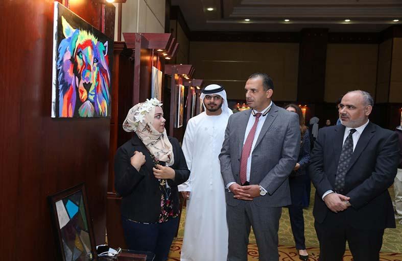 افتتاح مهرجان الإبداع الطلابي للفن التشكيلي بجامعة عجمان