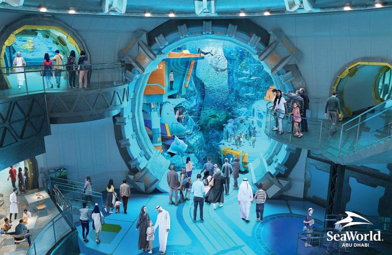 سي وورلد أبوظبي  في جزيرة ياس سيحتضن أكبر حوض مائي في العالم
