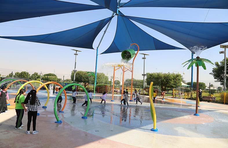 بلدية مدينة العين تطور فكرة الساحة المائية في حديقة اليحر الشمالي